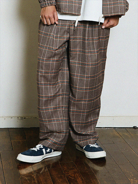 FB WIDE SLACKS(BEIGE CHECK)